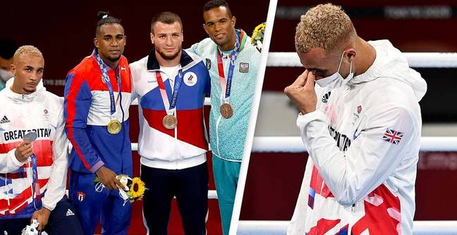 Boxer Whittaker upset with loss refuses to wear silver medal